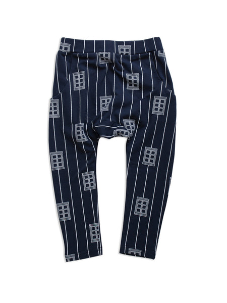 Midnight Blue Window Low Slung Pant (size 3-6 and 6-12 months left)