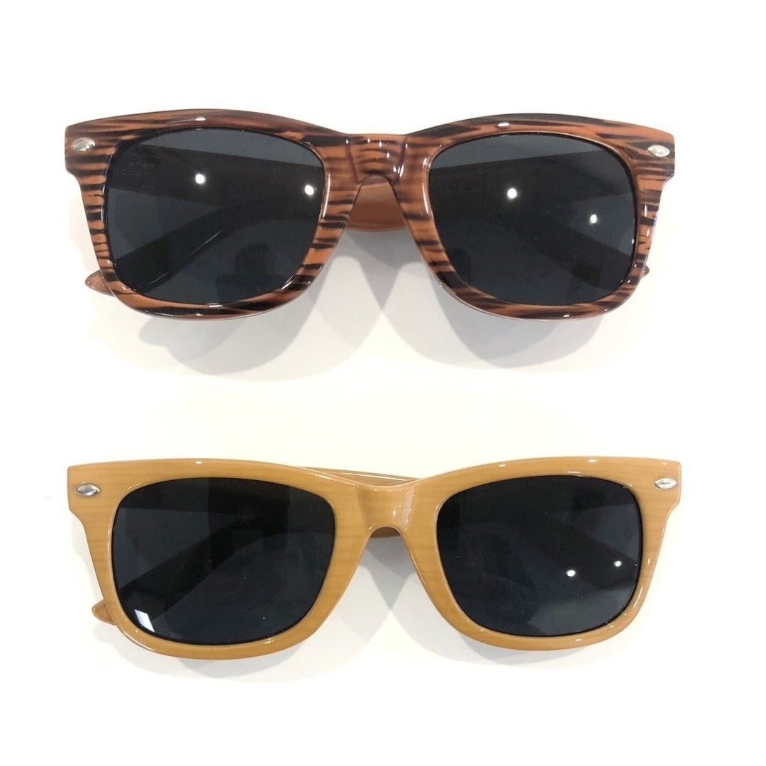 Wood Look Sunglasses