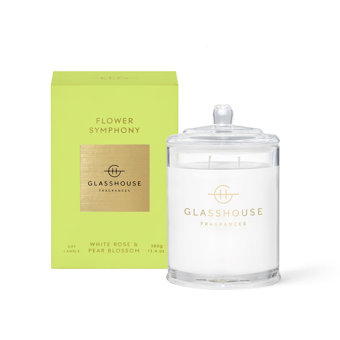 Flower Symphony Soy Candle - White Rose and Pear Blossum