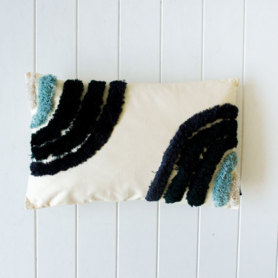 Ocean Double Rainbow Tufted Cushion