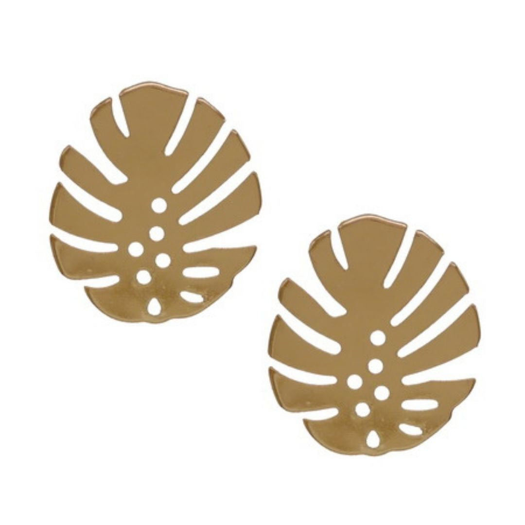 Cut Out Leaf Stud Earring