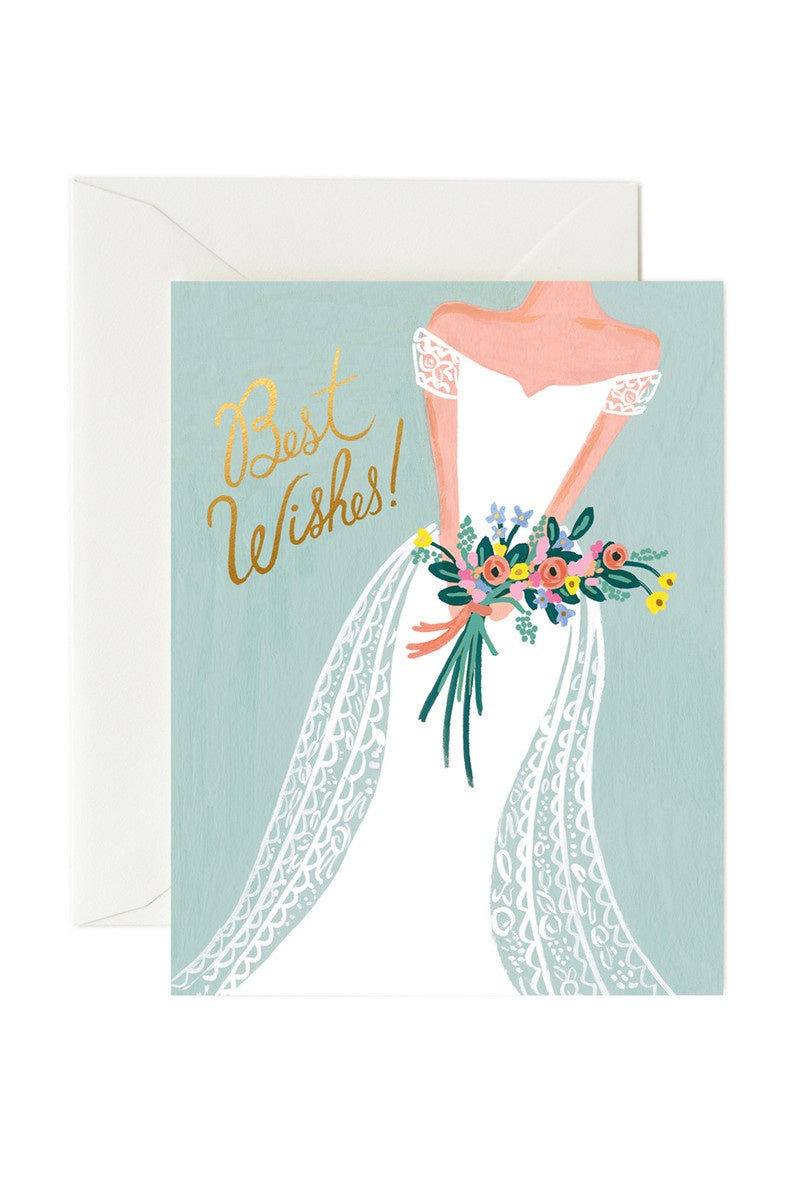 Beautiful Bride Best Wishes Greeting Card