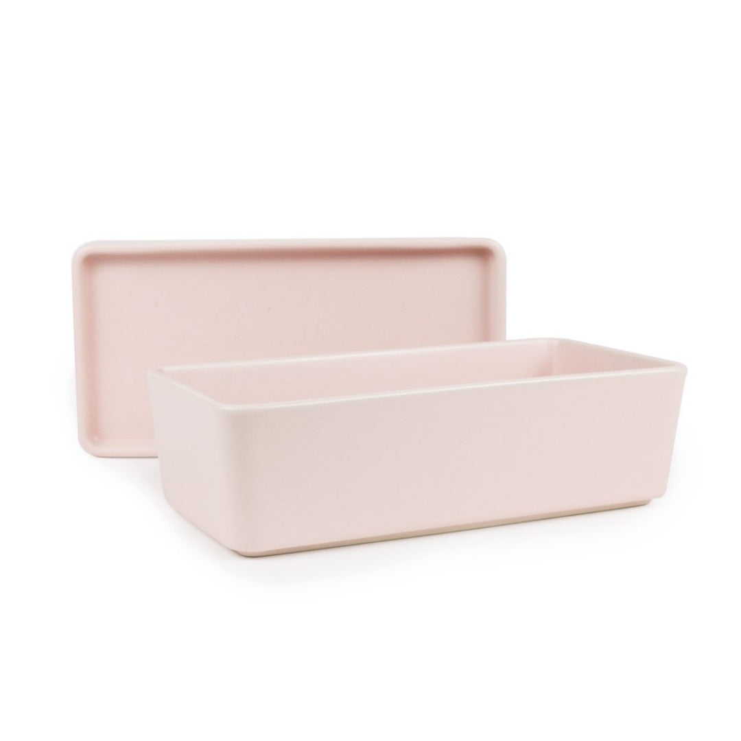 Rectangle Bowl & Plate - Pink stack and Serve