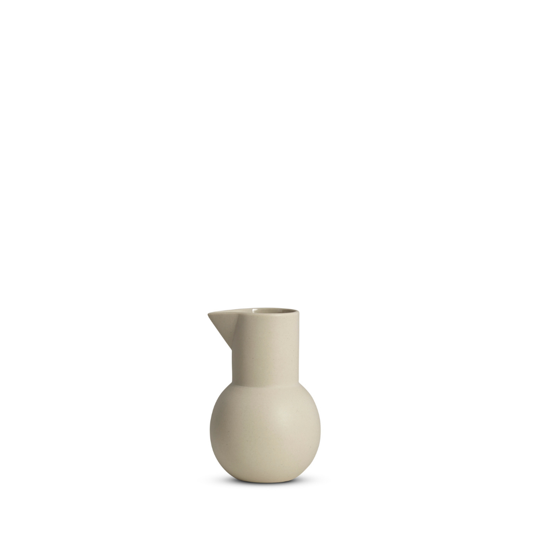 Hand cast ceramic Yala Jug  from Marmoset Found. Available in store and online at npj Living Flemington.