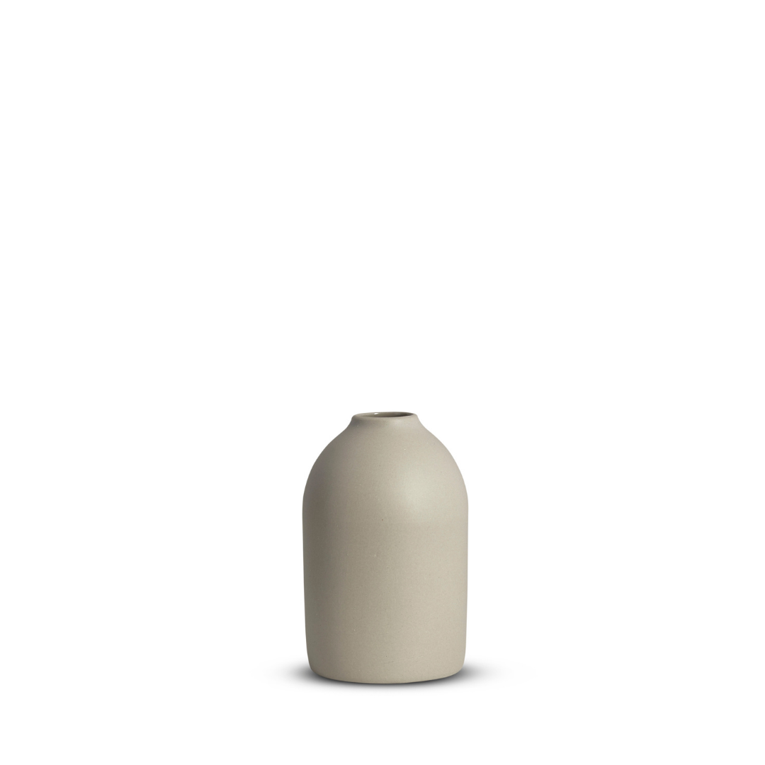 Hand cast ceramic Cocoon Vase from Marmoset Found in Dove Grey available at npj living Flemington - in store and online.