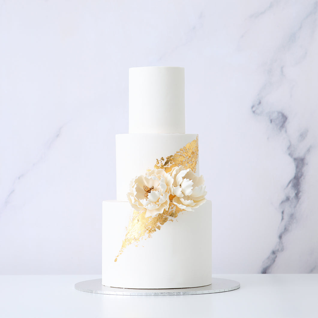 Signature Peony Wedding Cake [Three Tier]