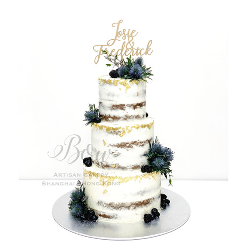 Berries Naked Wedding Cake [Three Tier]