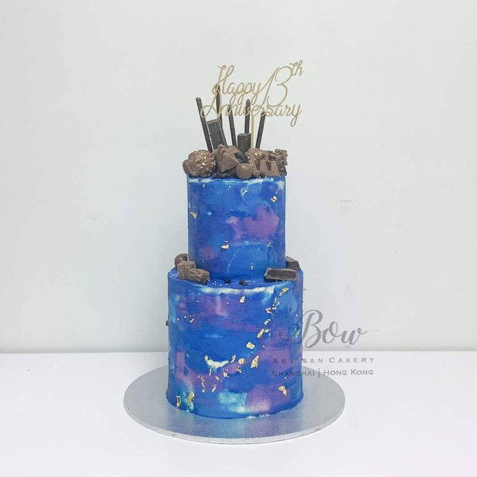 Two Tier Galaxy Cake