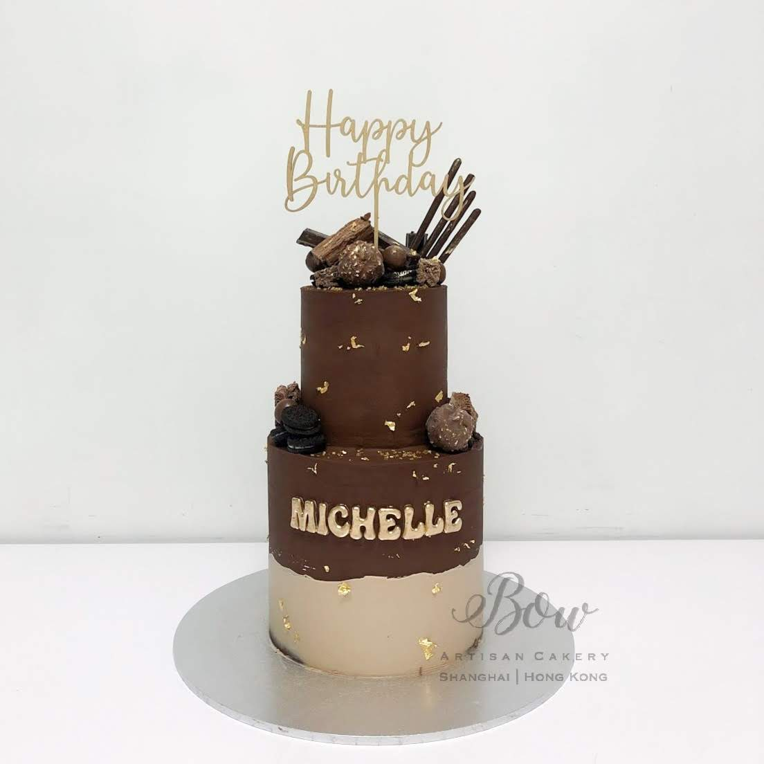 Two Tier Chocolicious Cake