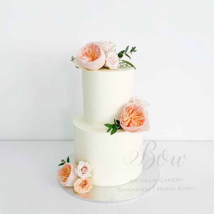 Wedding Cake with Fresh Flowers [Two-Tier]
