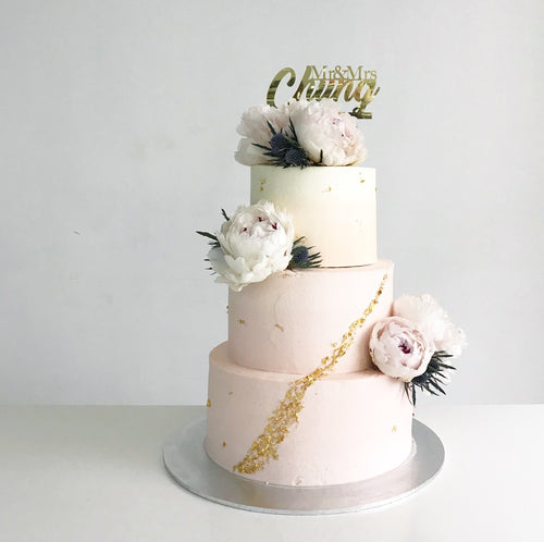 Dreamy Wedding Cake [Three Tier]
