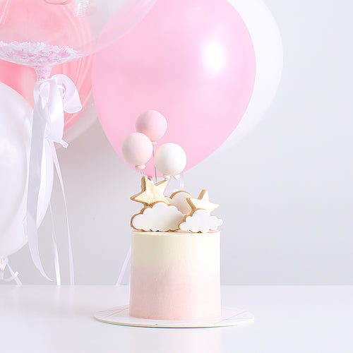Stars, Clouds and Balloons Cake with Balloon Bouquet Set