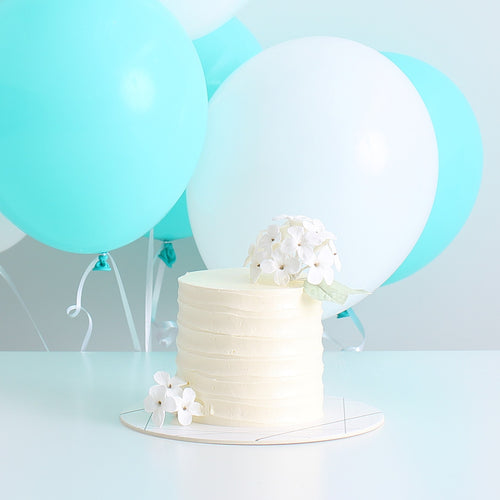 Hydrangeas Cake with Balloon Bouquet Set