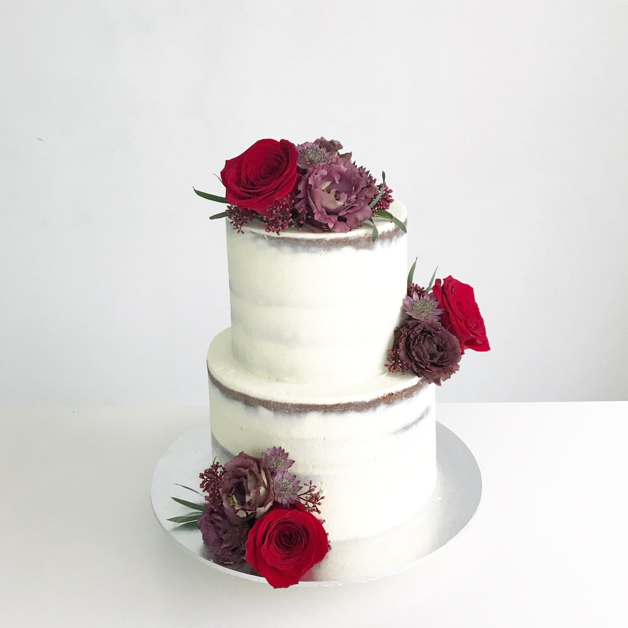 Red Roses Wedding Cake [Two Tier]