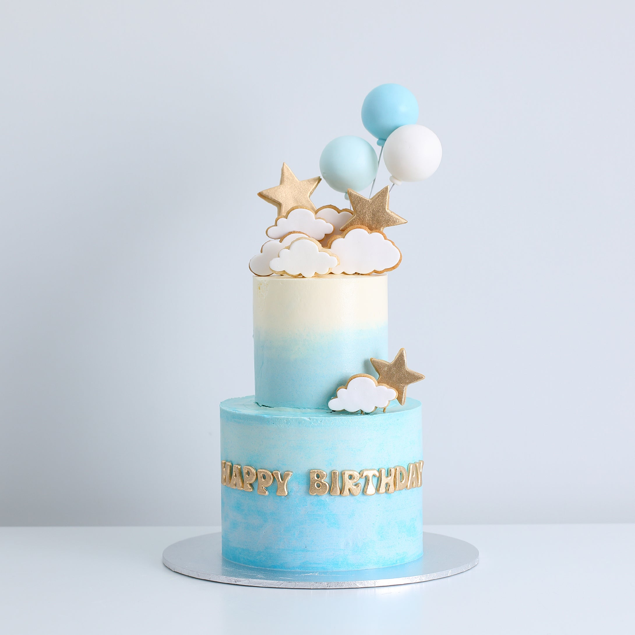 Two-Tier Stars, Clouds & Balloons