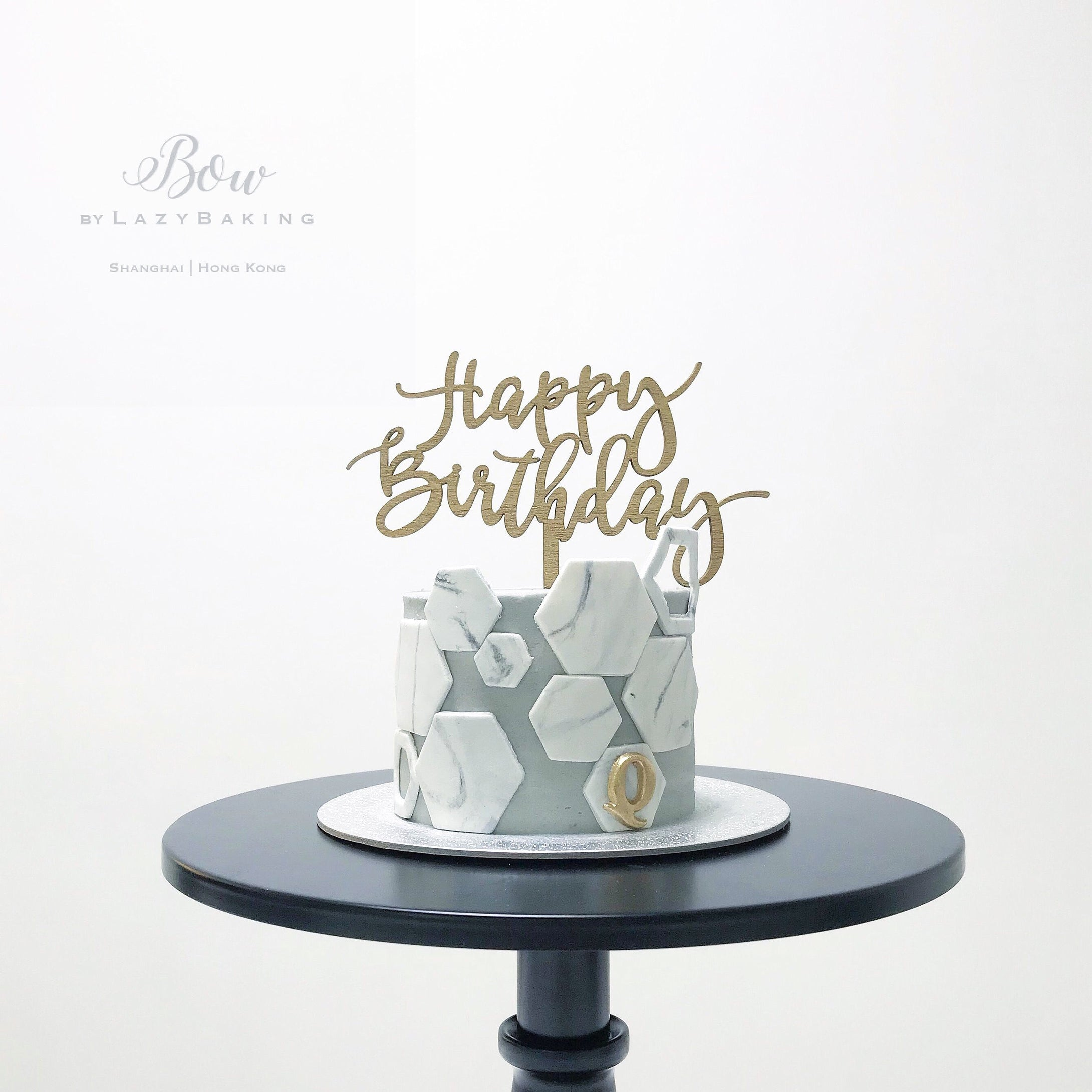 Marble Hexagon Tiles Cake | BOW by LazyBaking | Bespoke Wedding Cake | Hong Kong