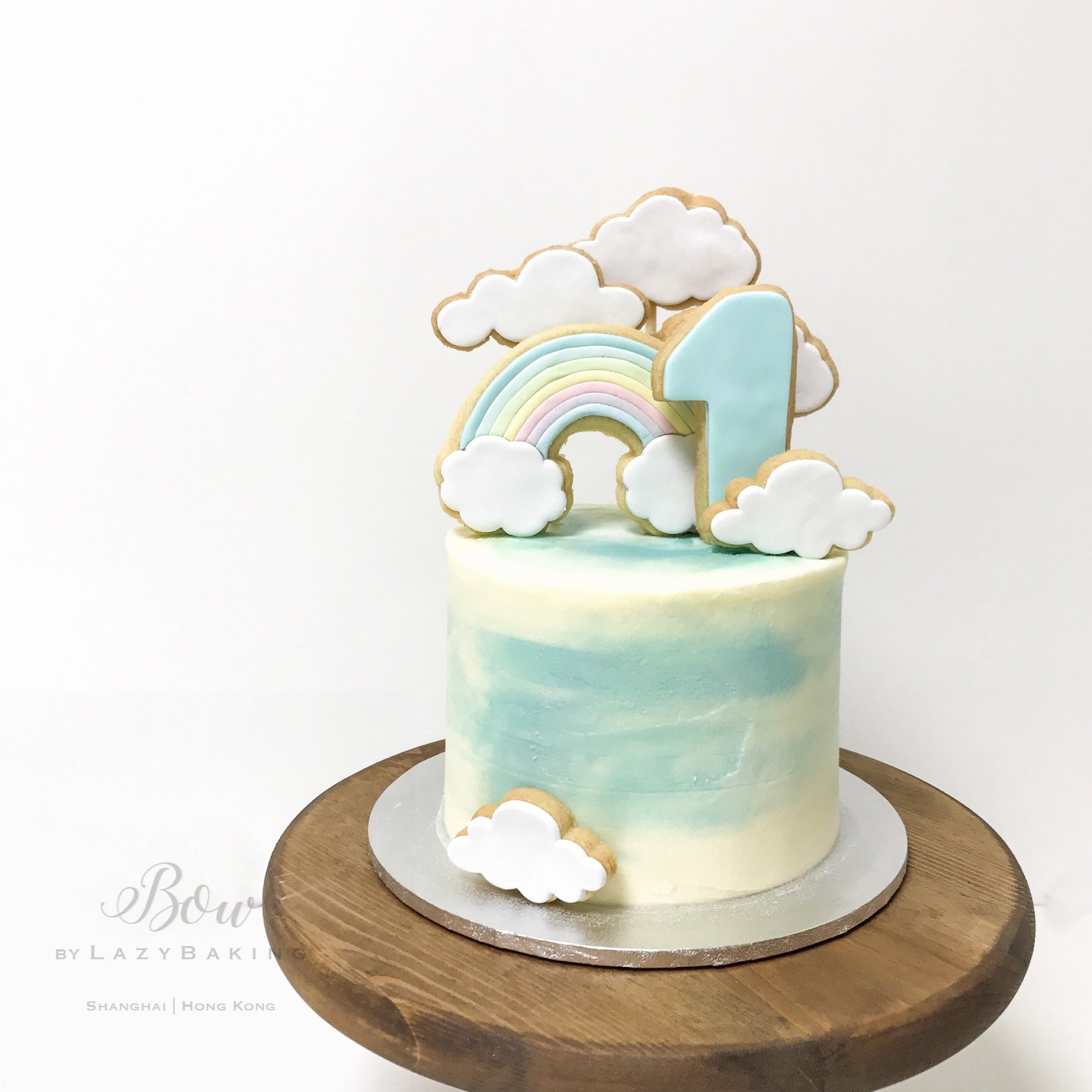 Rainbow & Clouds Cake | BOW by LazyBaking | Bespoke & Wedding Cakes | Hong Kong