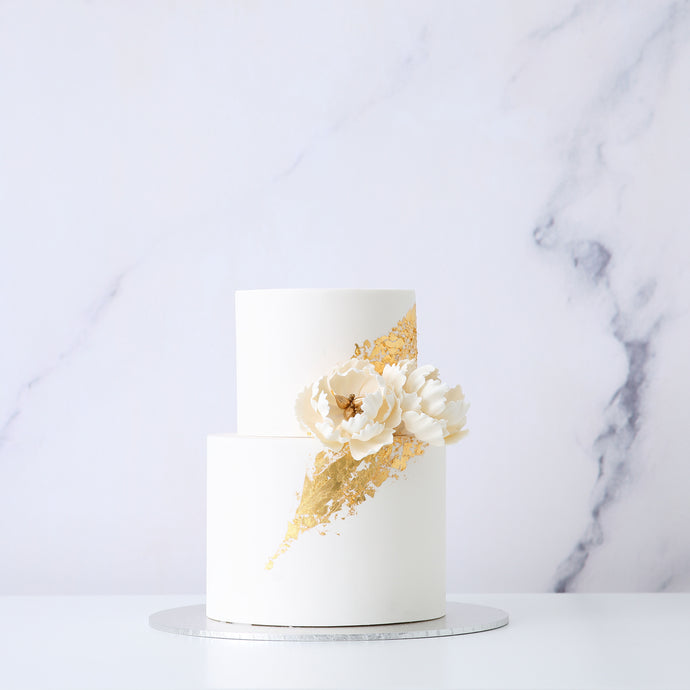 Signature Peony Wedding Cake [Two Tier]