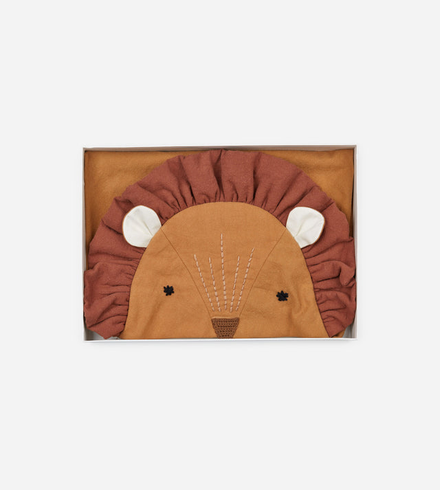 Baby Hooded Blanket - Lion Sean