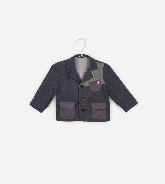 Patch Work Wool Blazer