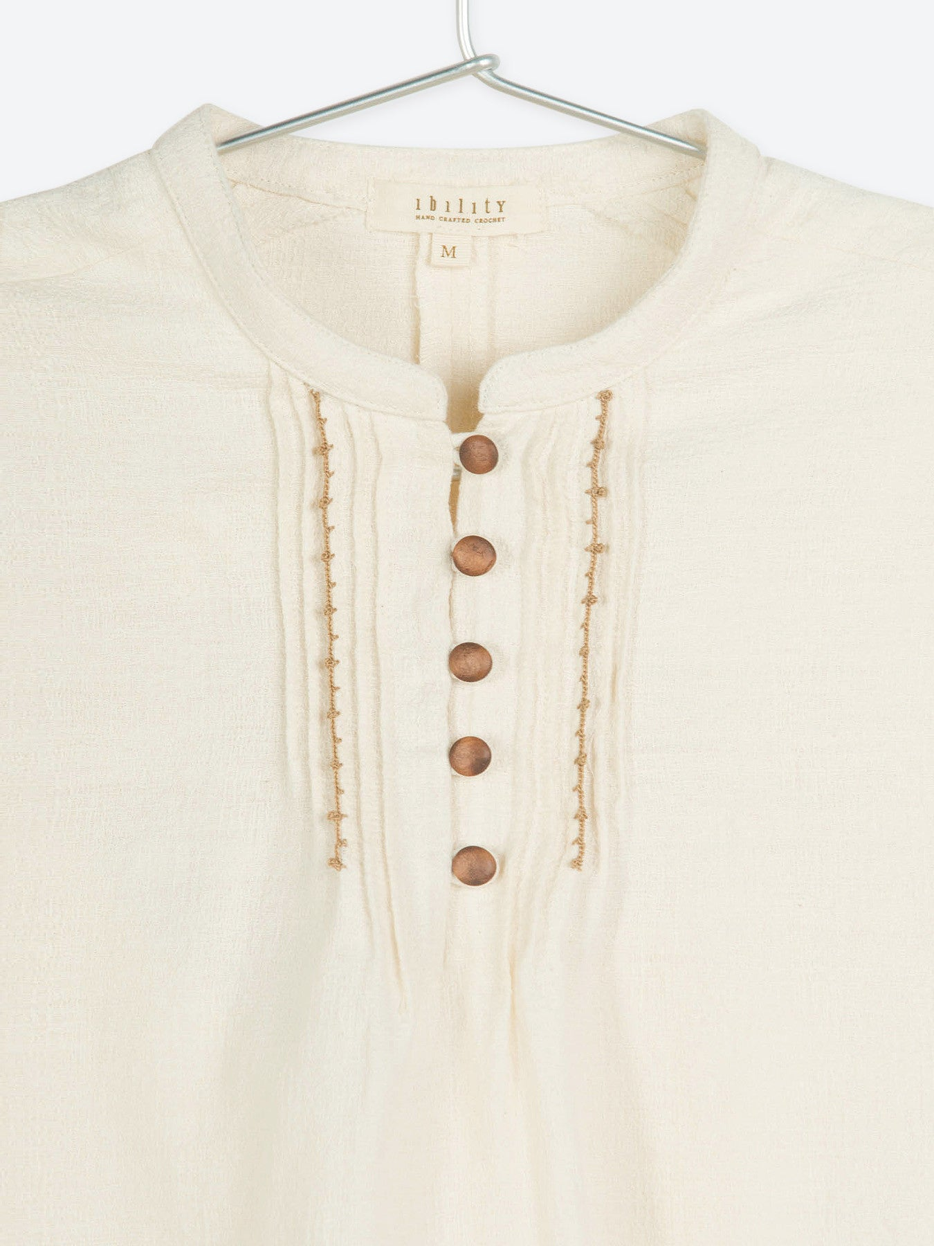 Stand Collar Cotton Top