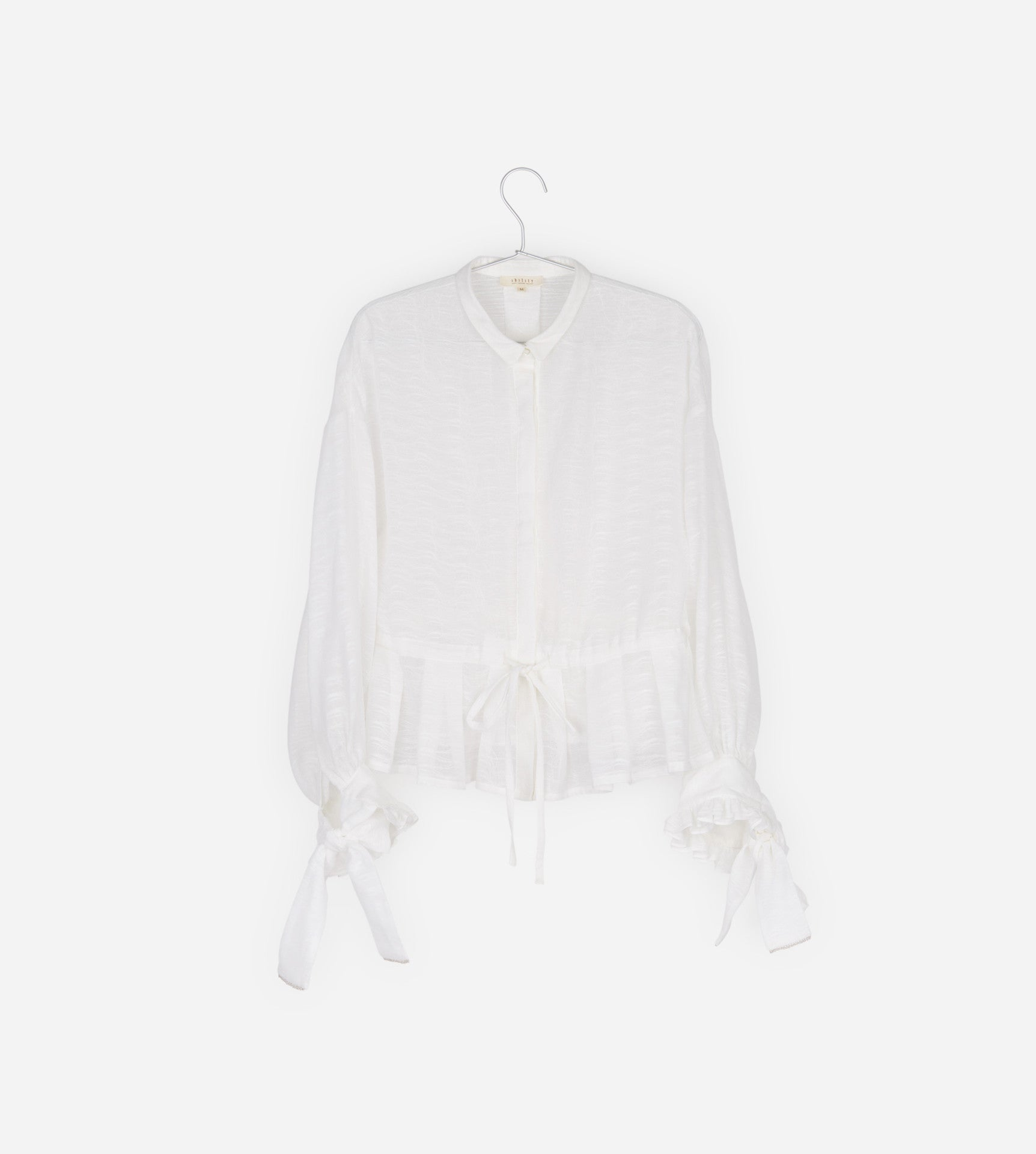 Organza Long Sleeves Shirt With Bow