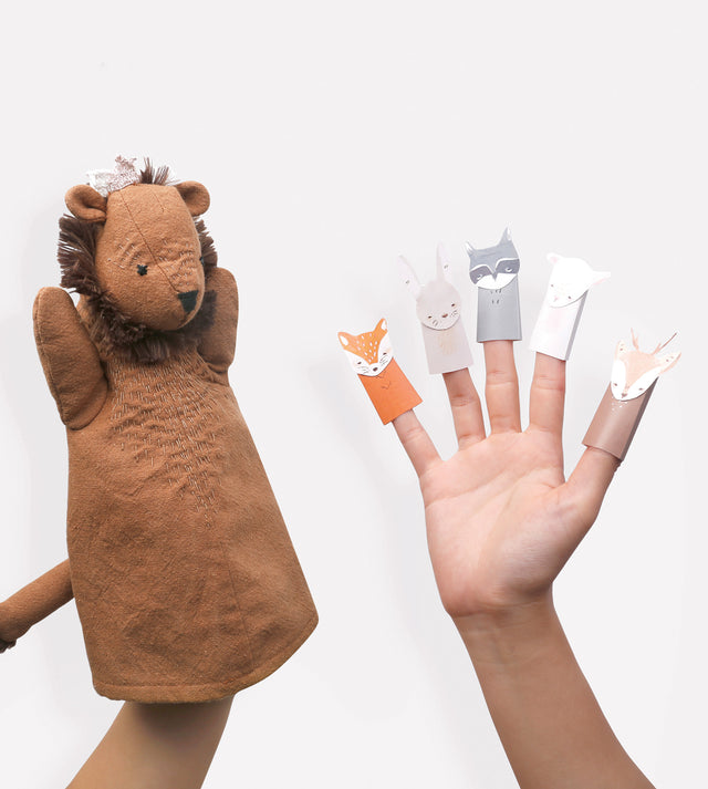 Sean Lion Puppet and Finger Puppets