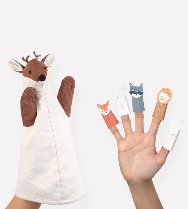 Lillian Deer Puppet and Finger Puppets