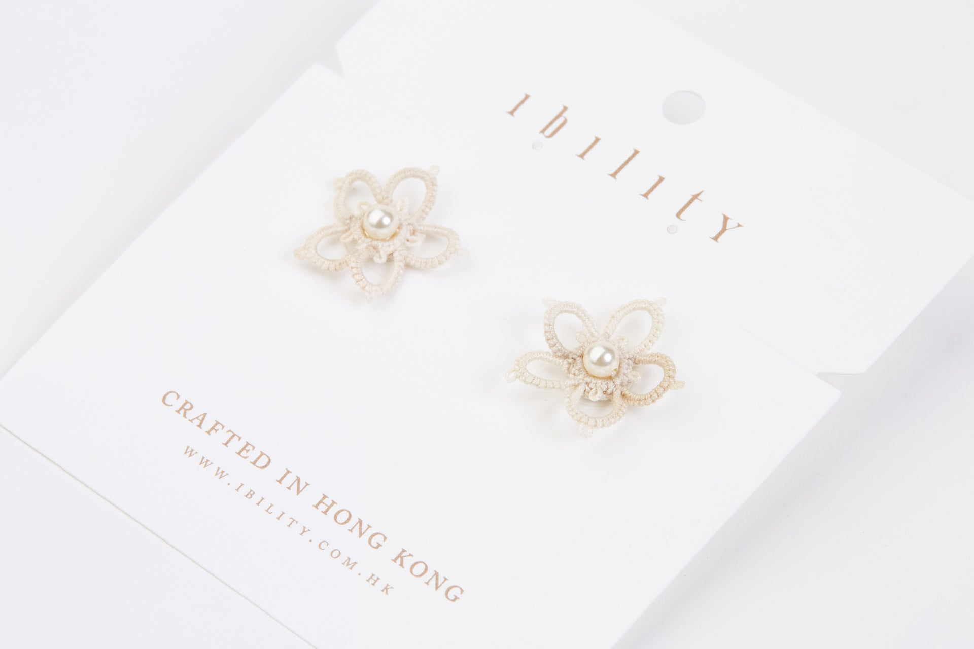 Magnolia Tatted Earrings