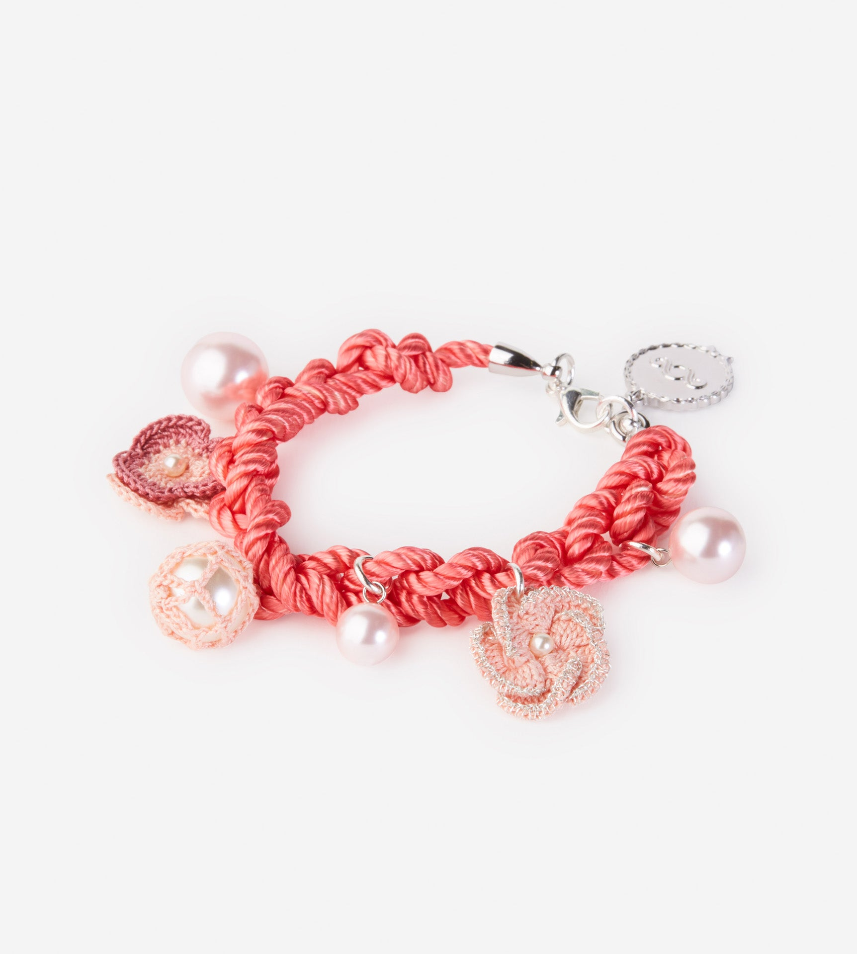Flower Crochet Bracelet (Rose)