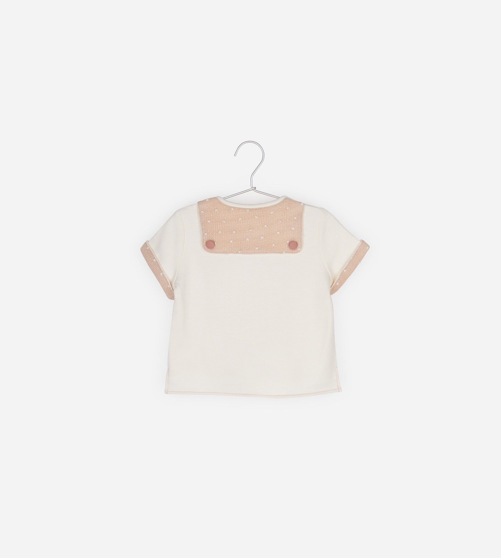 Contrast Top With Sailor Details(Light Pink)