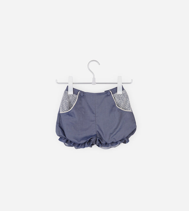 Bubble Shorts With Lace Ornaments