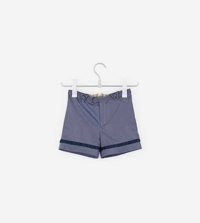 Contrast Fabric Shorts