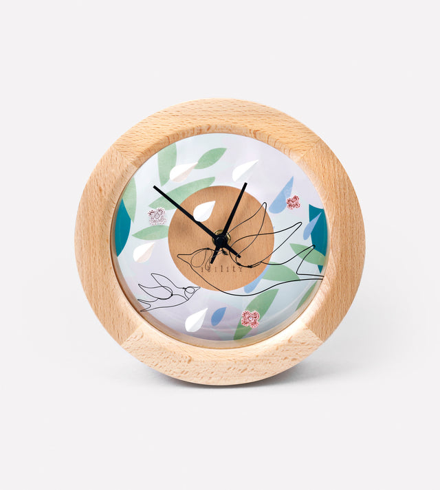 DIY Four Season Beech Clock (Spring)
