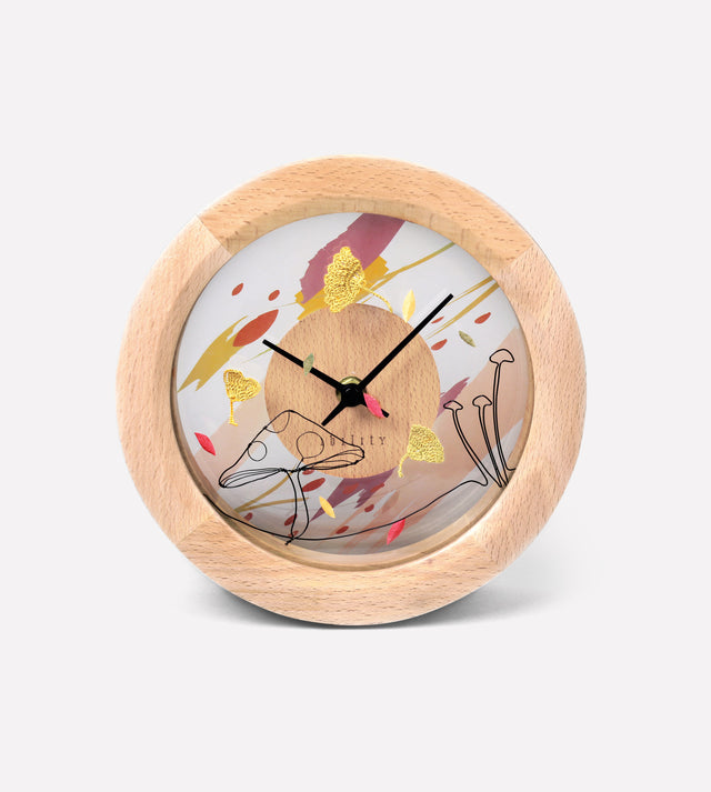 DIY Four Season Beech Clock (Autumn)