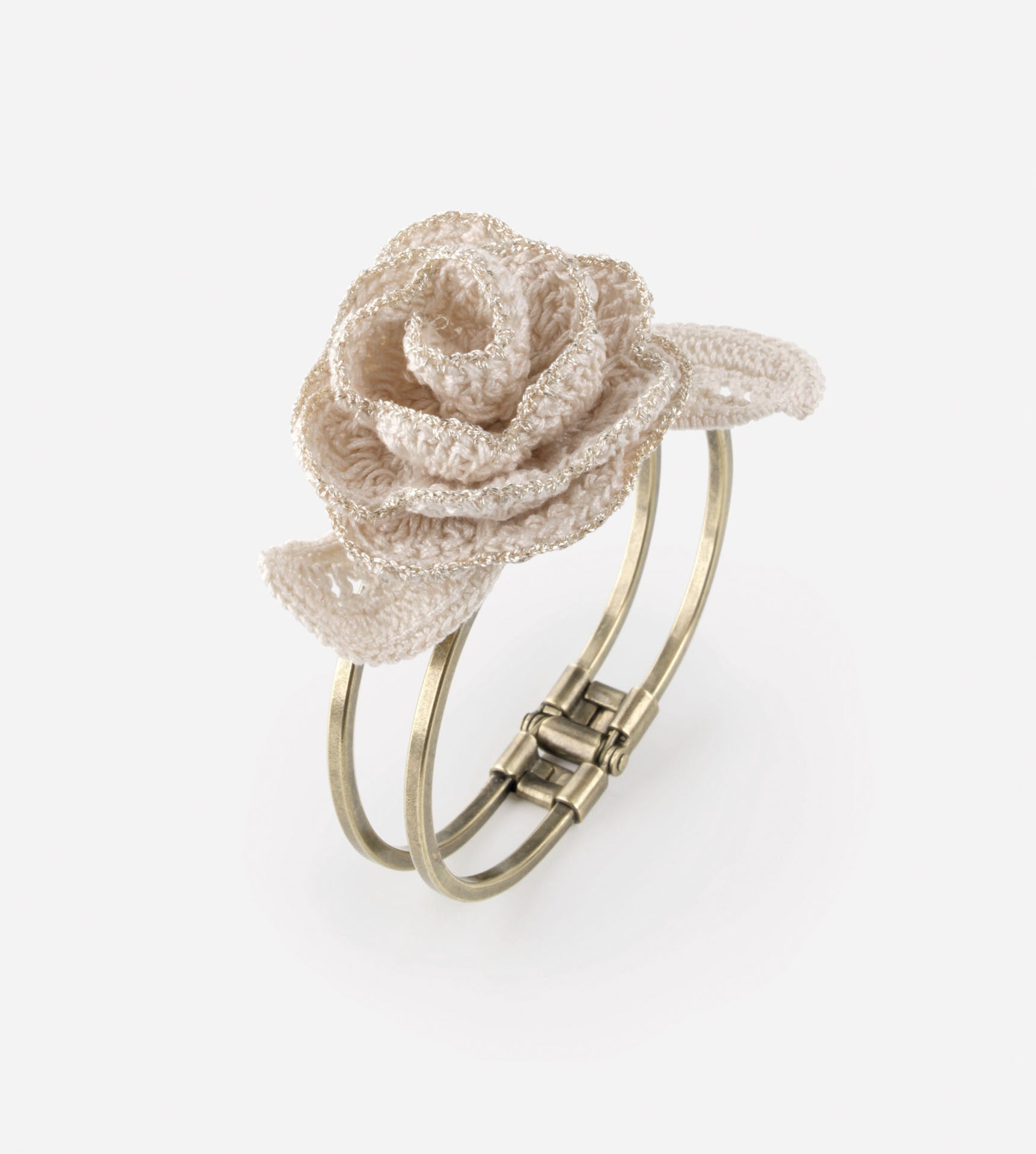 Rosedew Gold Crochet Bangle