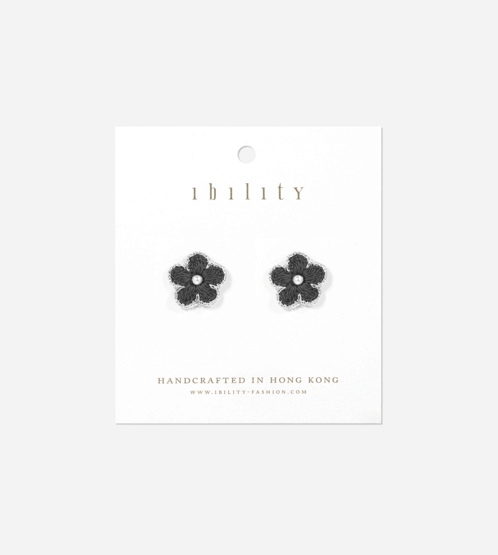 Blossom Silver Crochet Earrings