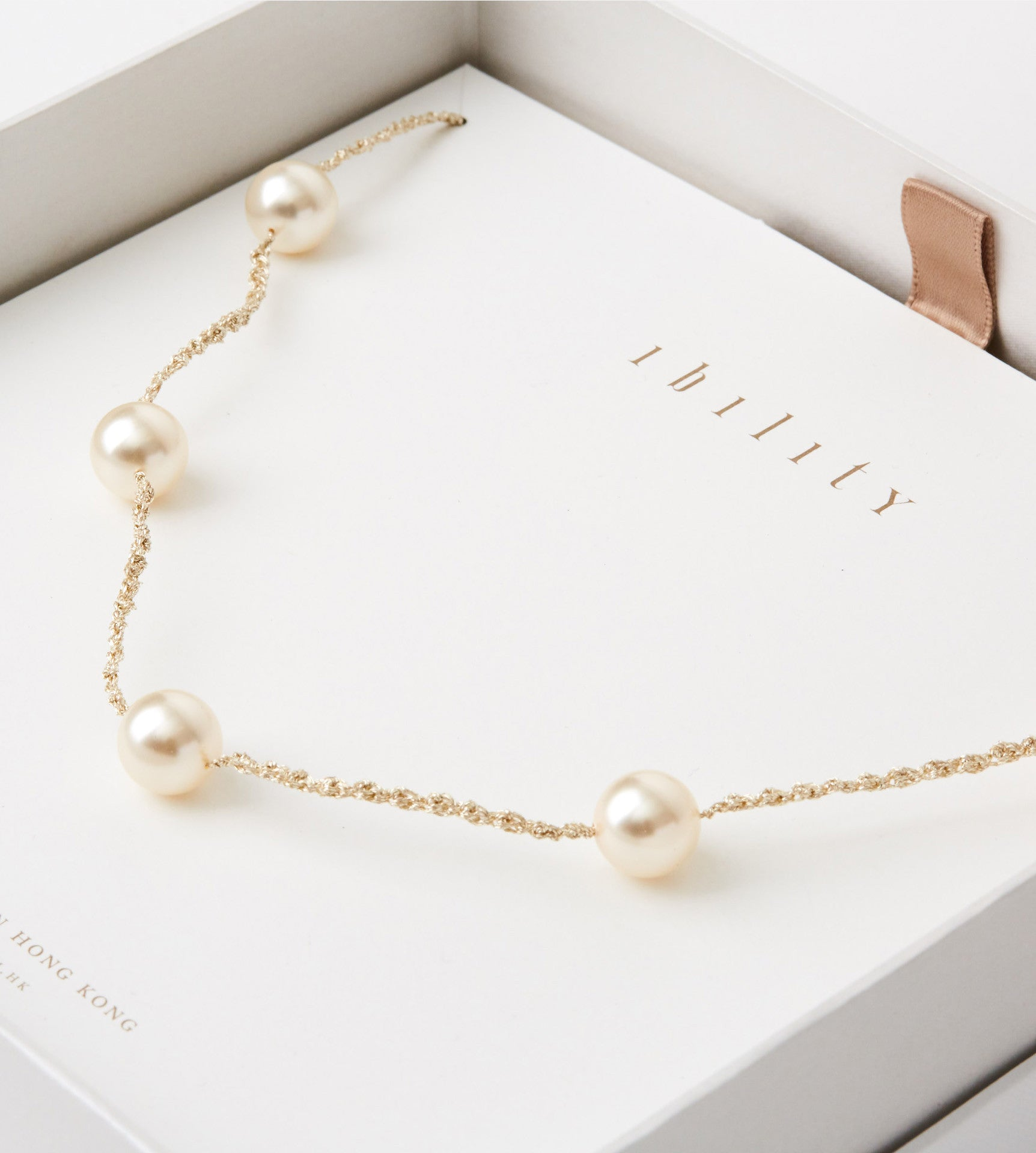 Classic Pearl Crochet Long Necklace