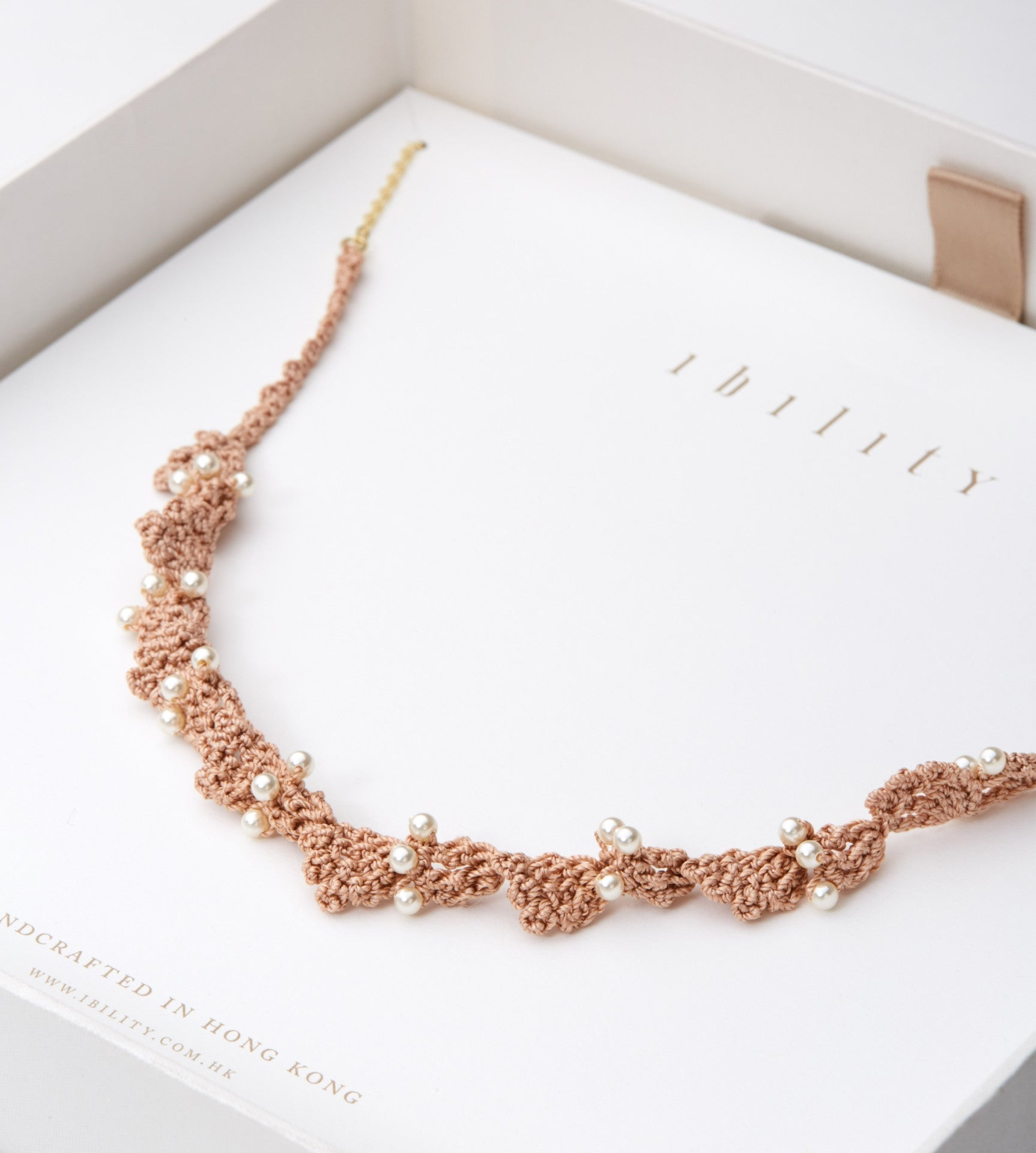 Ivy Crochet Pearl Necklace