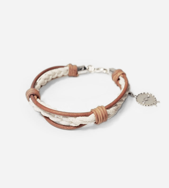 Leather Crochet Bracelet