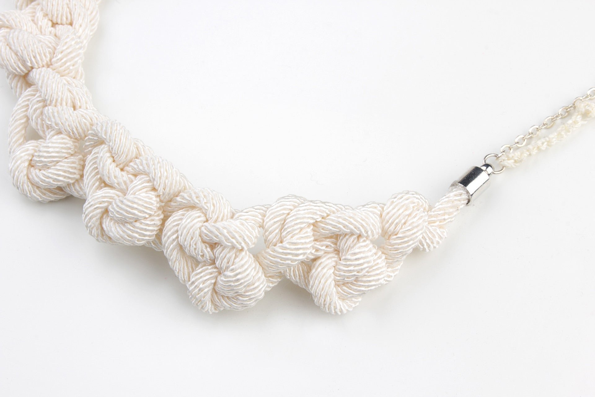 Long Crochet Necklace with Pearl