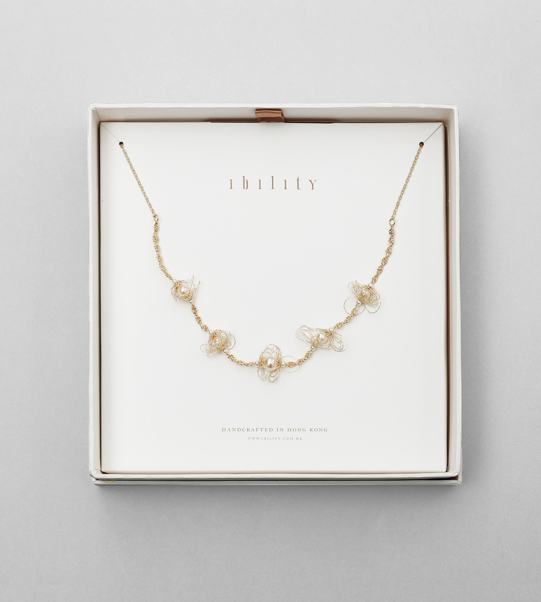 Sprout Pearl Necklace