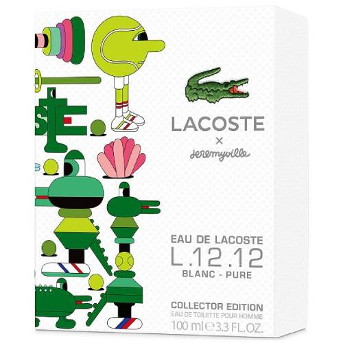 LACOSTE x jeremywille L.12.12 BLANC-PURE Collector EDITION EDT 100ml  MEN