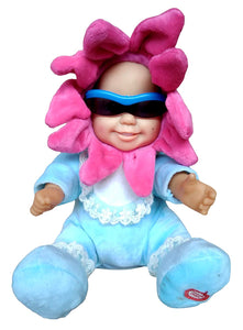 Toyshine Musical Soft Funky Realistic Baby Toy with Moving Head, Body and Arms, Blue-Pink