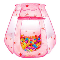 Toyshine Foldable Kid's Indoor Outdoor Pop up Play Tent House Toy, Balls Not Included (Pink, Model 1)