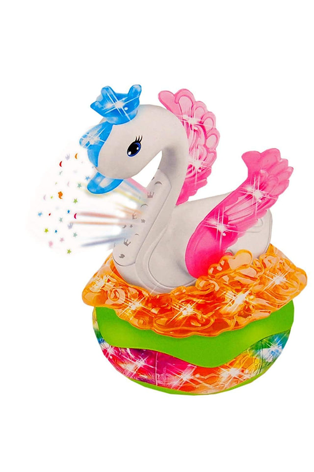 Toyshine Moving Swan Toy with Music and 3D Projection Lights