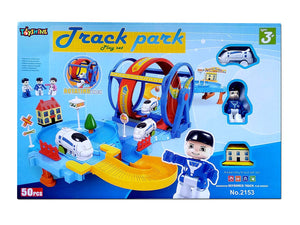 Toyshine Automatic Train Tracker Set Battery Operated Train Track