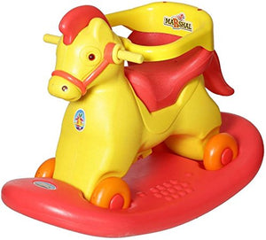 Toyshine ABS Plastic Kid's 2 in 1 Marshal Horse Rocker Cum Ride-on Rocking Toy, 2-5 Years (Assorted)