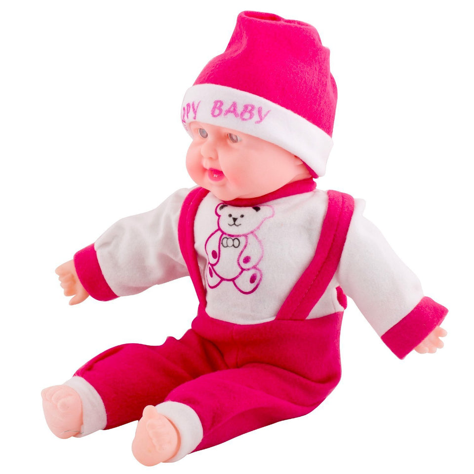 Toyshine 20 Inches Laughing Baby Boy Doll, Touch Sensors, Pink, Assorted Design
