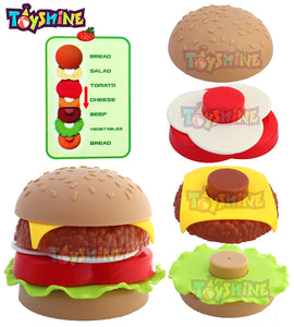 Toyshine Fast Food Party Play Fast Food Set 18 Piece Pretend Play Food Toy | Best Gifts Food Playset for Boys Girls Kids by Toyshine